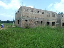 an ongoing housing construction